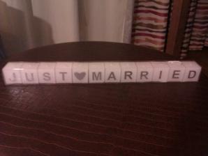 Poslední úlovek - svíčky JUST MARRIED