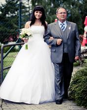 S tatínkem....