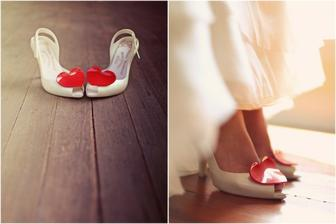 Krásne svadobné topánky