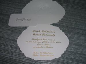 Oznámení ze vnitř a pozvánka ke stolu ....mám z něho vééééélikou radost
