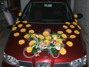 To je výzdoba mého autí akorát uprostřed bude panenka čekám jen až bude hotová pak foto vyměním a květy budou asi jen jednořadé