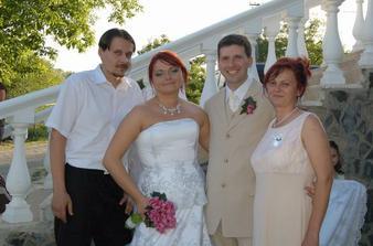 so svadobnou mamičkou a jej manželom