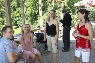 svatebčané-Miluška s Péťou a Deniska s Petrem
