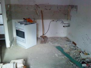 kuchyna po demolicii :)