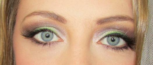 moje oči - nalíčené na skúšku :)