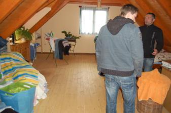 Ložnice, vstup po samostatném schodišti z kuchyňo-obýváku