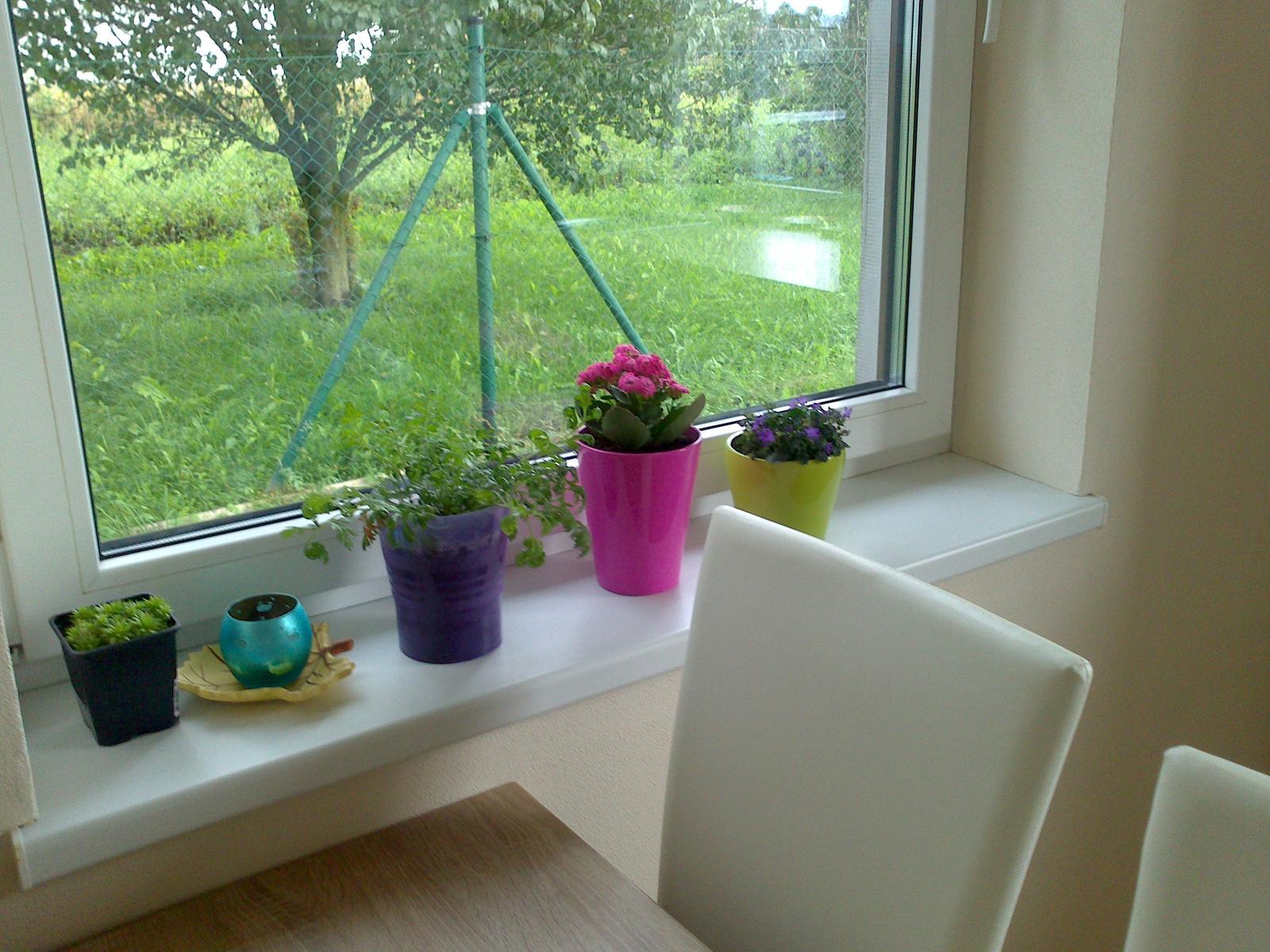 New - Pohlad do zahrady z 1 kuchynskeho okna,mam ich dve:-)))