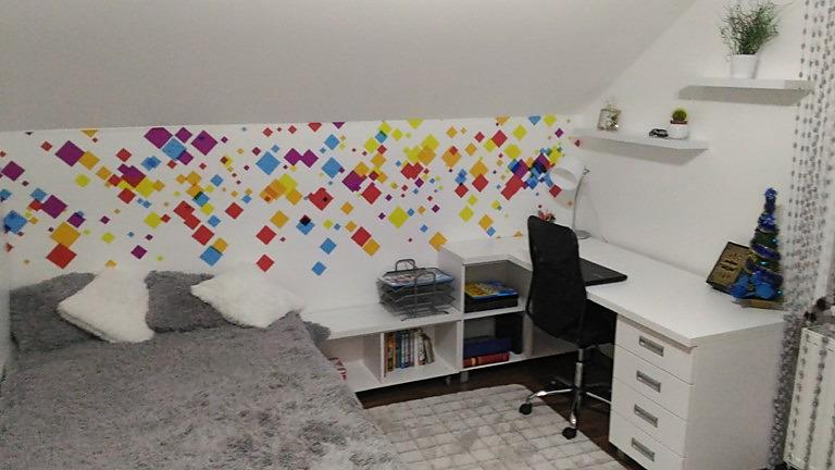 Inšpirácie s tapetami - realizácie v interiéroch - Vliesová tapeta na mieru tapetymix.sk - detská izba + deka elite sivá decointerier.sk