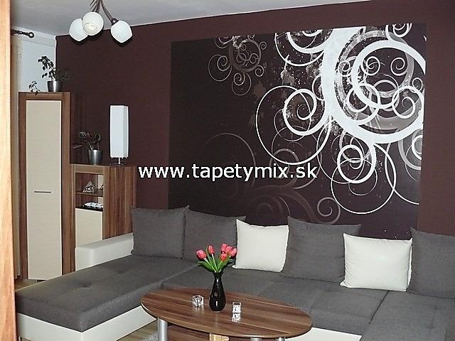 Inšpirácie s tapetami - realizácie v interiéroch - Interiér obývačka - tapeta na mieru