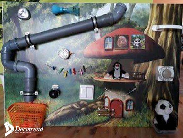 Inšpirácie s tapetami - realizácie v interiéroch - Krásny 3d detský kútik s tapetou na mieru