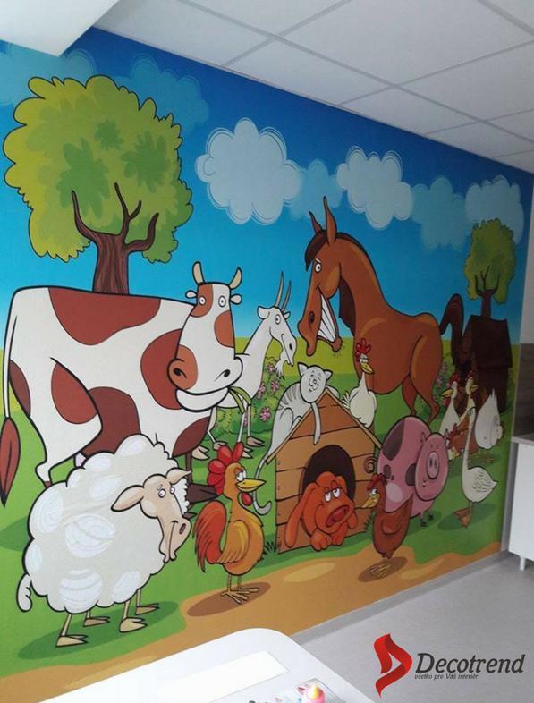 Inšpirácie s tapetami - realizácie v interiéroch - Tapeta na mieru latexová - ambulancia v Ružomberku + práca nášho tapetára