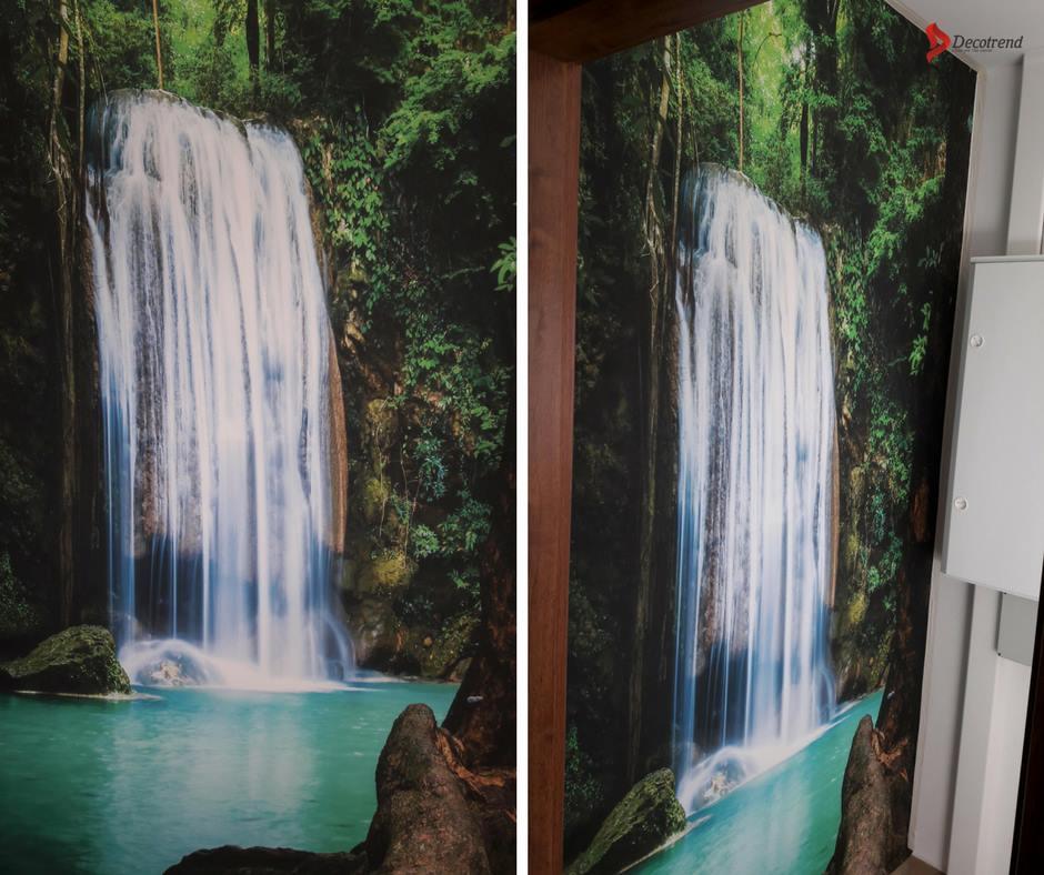 Inšpirácie s tapetami - realizácie v interiéroch - Fototapeta v masážnom salóne v Námestove