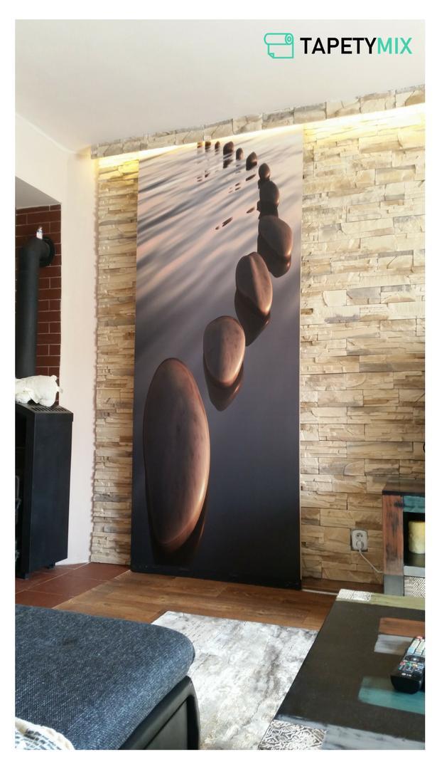 Inšpirácie s tapetami - realizácie v interiéroch - tapeta na mieru na posuvných dverách