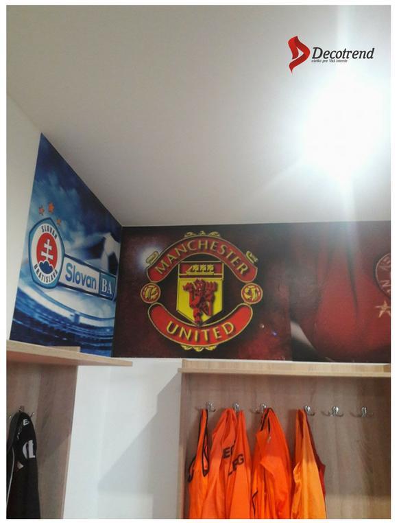 Inšpirácie s tapetami - realizácie v interiéroch - tapety - logá futbalových klubov