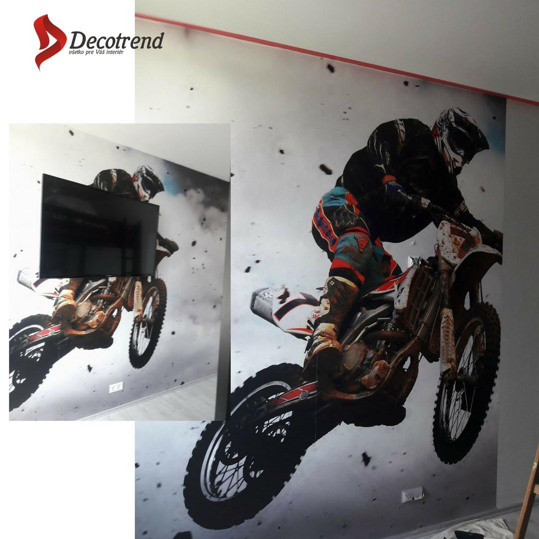Inšpirácie s tapetami - realizácie v interiéroch - tapeta v novostavbe v BA, tapetovanie Decotrend