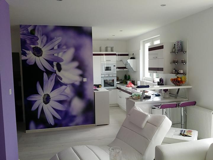 Inšpirácie s tapetami - realizácie v interiéroch - Obrázok č. 89
