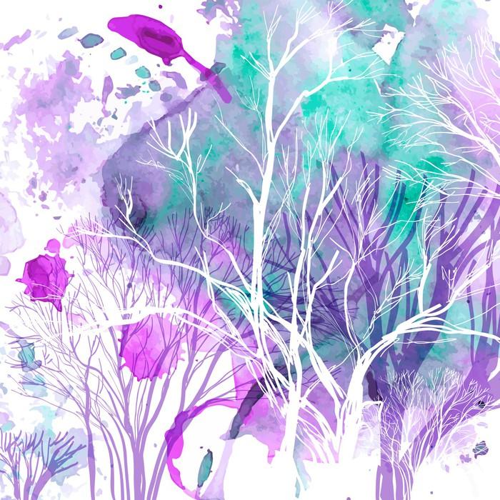 Stromy na tapetách - https://www.tapetymix.sk/fototapeta/fototapeta-watercolour-abstraktne-fialove-stromy-ft-63335589