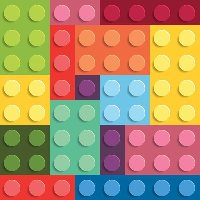 Aj detská izba potrebuje peknú tapetu - Fototapeta Lego stavebnica