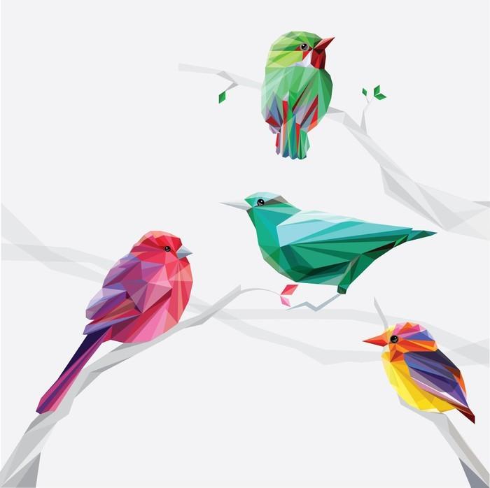 Aj detská izba potrebuje peknú tapetu - fototapeta farebné vtáčiky