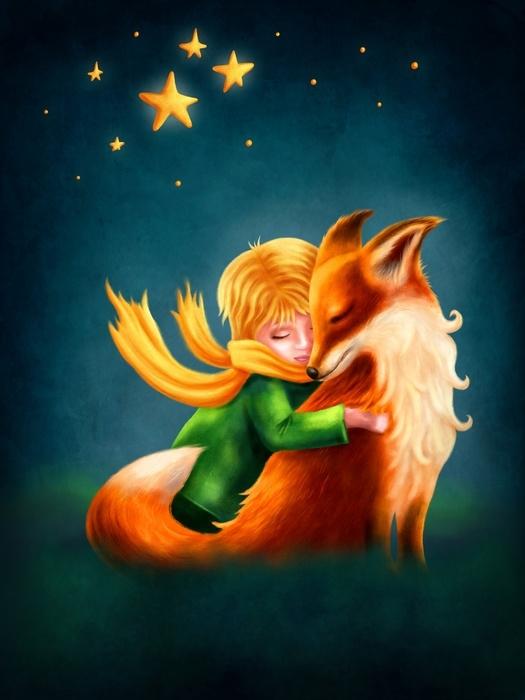 Aj detská izba potrebuje peknú tapetu - Fototapeta Maláý princ a líška