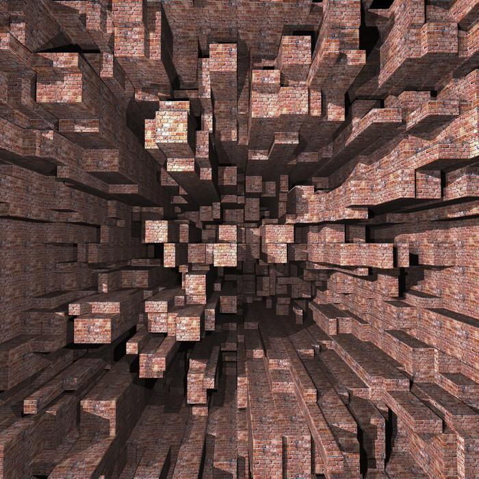 Tapety s imitáciou prírodných materiálov - https://www.tapetymix.sk/fototapeta/fototapeta-3d-brick-wall-ft-35592146