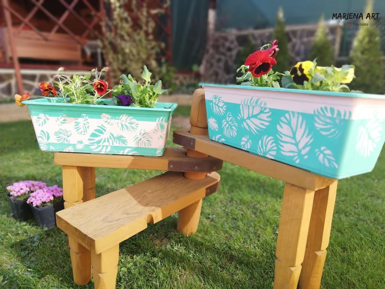 Kriedové farby - Chalk paint 🎨🖌 - kvetináče namaľované kriedovými farbami