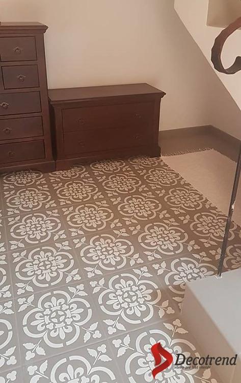 Redizajnujeme, maľujeme, tvoríme - namaľovaná podlaha pomocou šablóny Florencia ST057