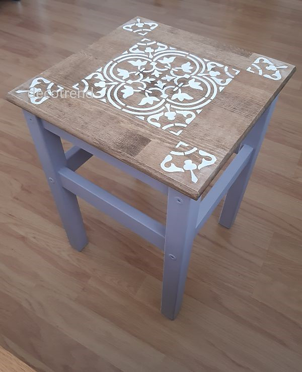Redizajnujeme, maľujeme, tvoríme - renovácia stolčeka