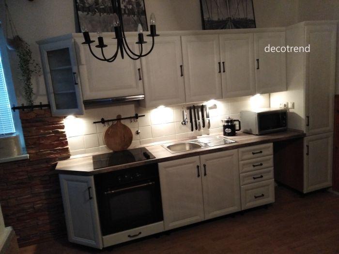 Redizajnujeme, maľujeme, tvoríme - Kuchynská linka redizajn - použitá kriedová farba Cotton a transparentný lak