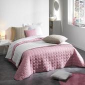 Ružový prešívaný prehoz na posteľ 220x240cm,
