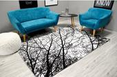 4D koberec Black Trees,