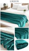 Obojstranná Teplá deka zelená ,