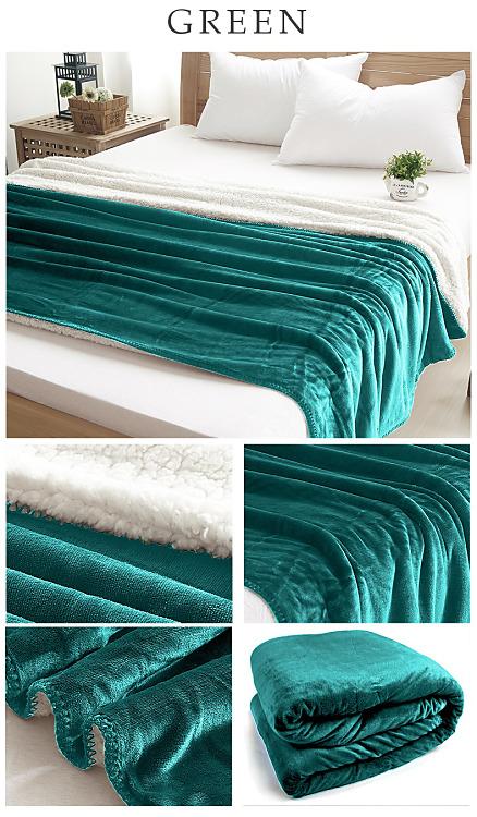 Obojstranná Teplá deka zelená  - Obrázok č. 1
