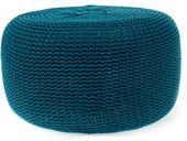 Pletená nafukovacia taburetka Tmavo modrá,