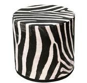 Bielo-čierna TABURETKA Zebra,