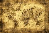 Zľava - Samolepiaca tapeta lesklá Mapa sveta,
