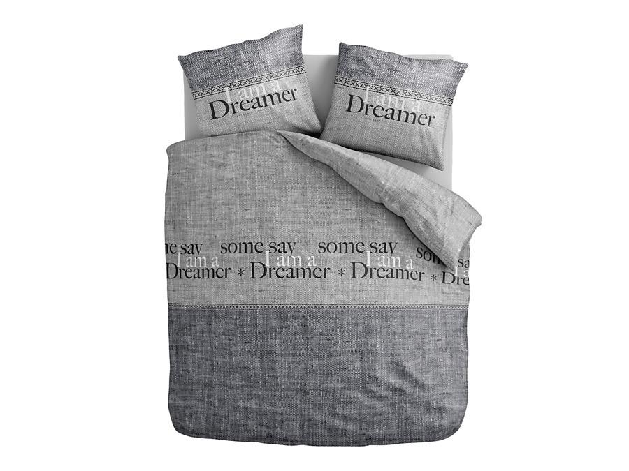 Šedé posteľné obliečky Dreamer 160x200cm  - Obrázok č. 1