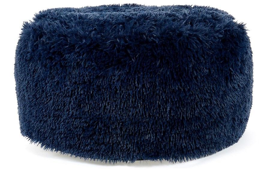 Chlpatý modrý poťah na puf - Obrázok č. 1
