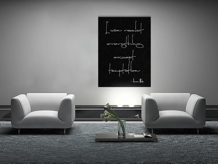 Čiernobiely obraz s nápisom 60x80cm - Obrázok č. 3