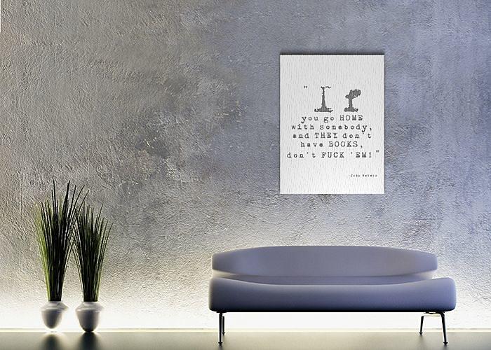 Biely obraz s nápisom 60x80cm - Obrázok č. 3