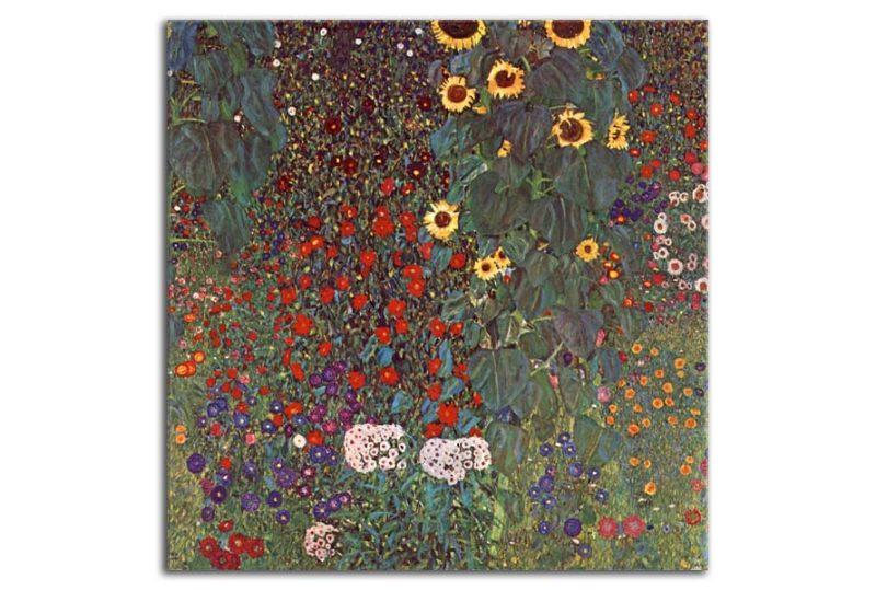 Obraz Gustav Klimt Country Garden, 90x90cm - Obrázok č. 1