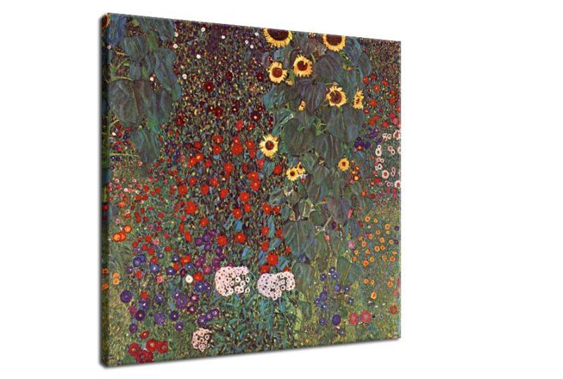 Obraz Gustav Klimt Country Garden, 90x90cm - Obrázok č. 2