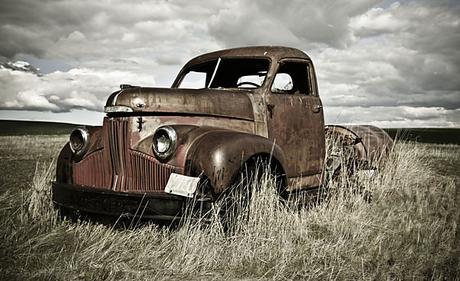 Vliesová tapeta staré auto 410x250cm - Obrázok č. 1