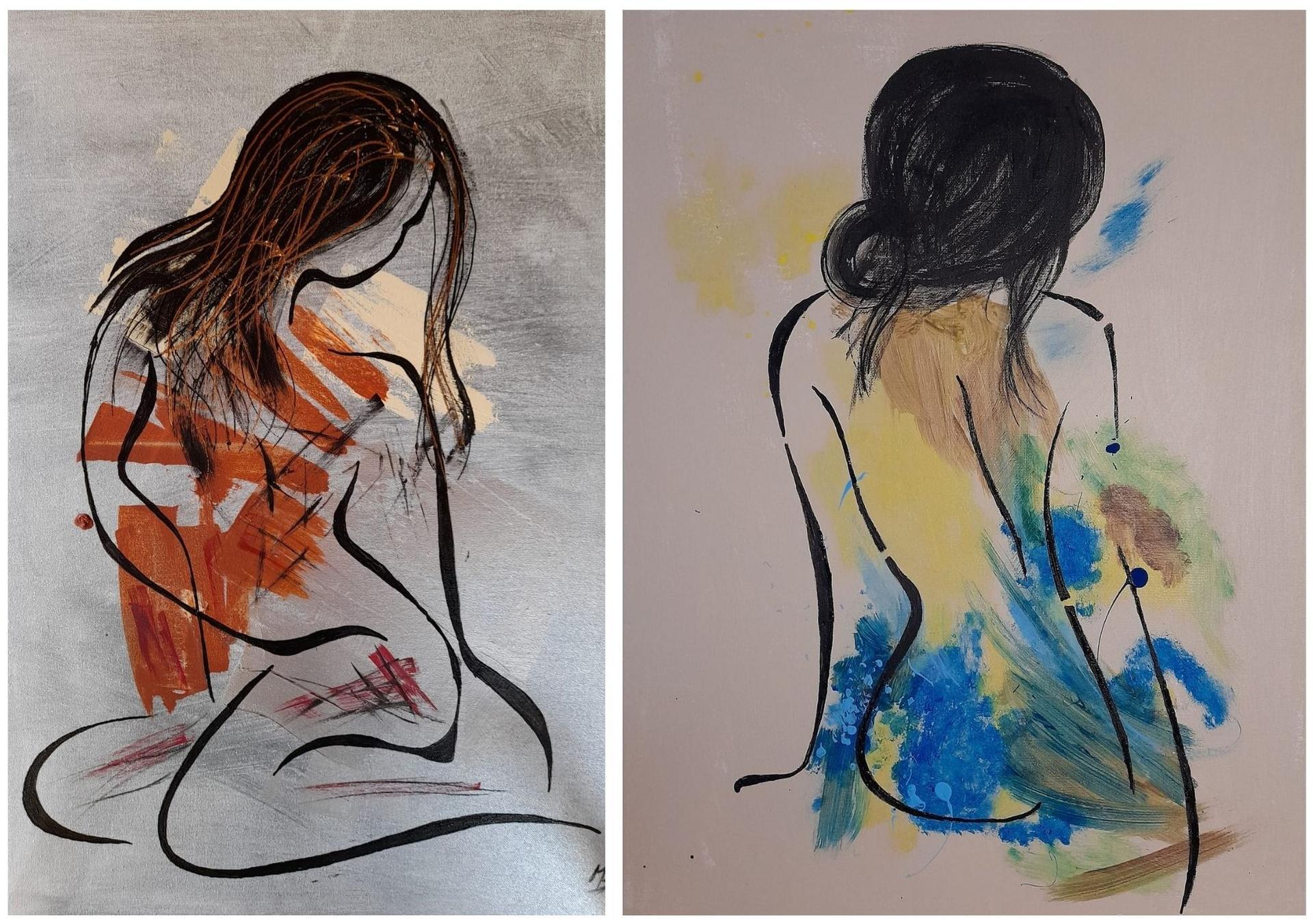 Redizajnujeme, maľujeme, tvoríme - tvorba pani Blanky, ktorá použila naše šablóny. Krásna práca a hlavne originálna!