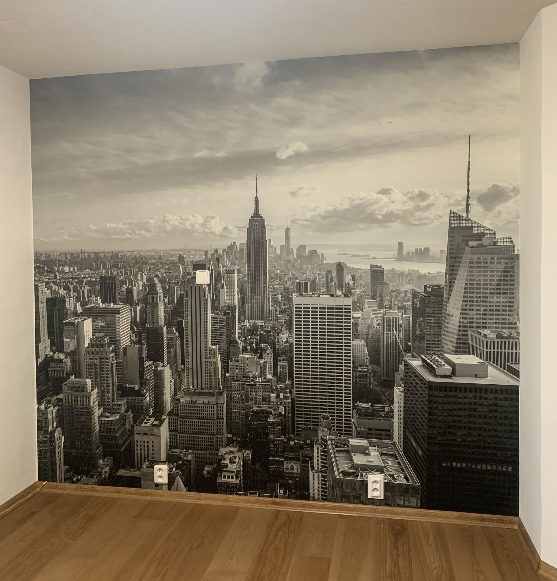 Inšpirácie s tapetami - realizácie v interiéroch - vinylová fototapeta New York, 272 x 250cm