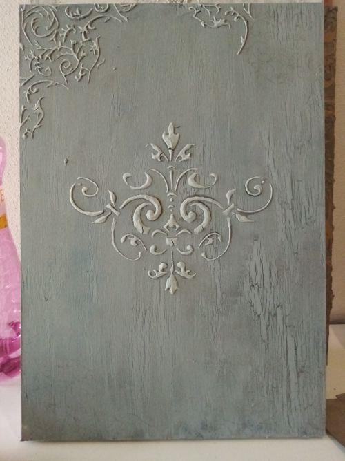 Redizajnujeme, maľujeme, tvoríme - dekoratívne omietky od pani Janky použité šablóny a kriedové farby z našej ponuky