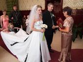 Netradiční svatební šaty vel. 38, 38