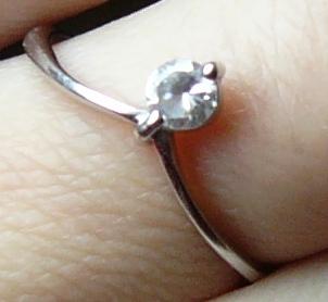 Asi bude svatba:) - Zásnubní prstýnek:)