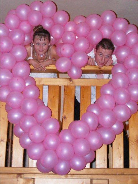 Asi bude svatba:) - Ale balónky ano:)