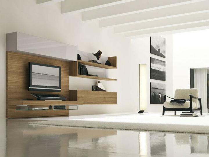 Moderné obývacie izby a obývacie steny - obývacia izba 7